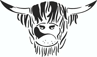 MOTORHOME RV CAMPER VAN HIGHLAND COW decals  stickers  for motor home  610mm