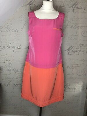 BNWT Laura Ashley Occasion Coral &Pink Dress Size 16 Wedding Cruise Races Summer