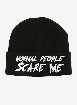 e8ebf425bad AMERICAN HORROR STORY Beanie Hat Normal People Scare Me Knit Cap AHS ...