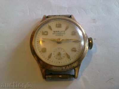 gold plated Vintage Old Swiss made women Wrist Watch  WARLYS