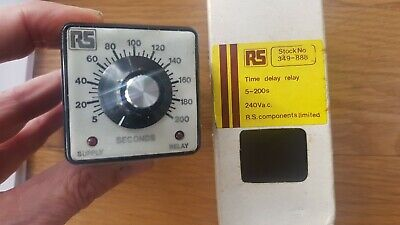 RS 349-888 time delay octal relay 240v ac 5 to 200 secs new (old stock) in box