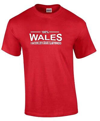 100% Wales Six Nations 2019 Grand Slam Winners Kids Rugby T-Shirt