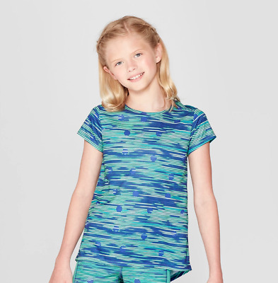186c78db C9 CHAMPION GIRLS Blue Green Tech Shirt Activewear NWT - $9.99 ...