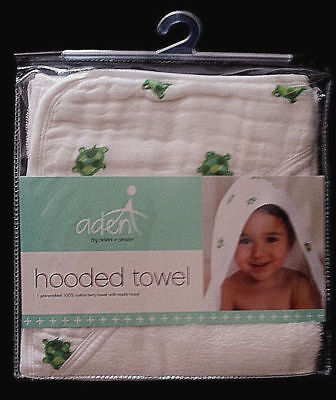anais Hooded Towel Life/'s A Hoot aden by aden Turtles