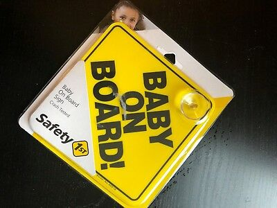 "Safety 1st ""Baby On Board"" Sign 1, Yellow"