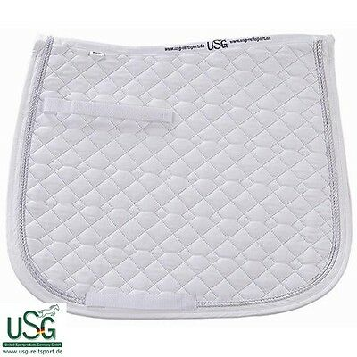 White USG General Purpose Quilted Saddle Cloth with Double Rope – FULL SIZE