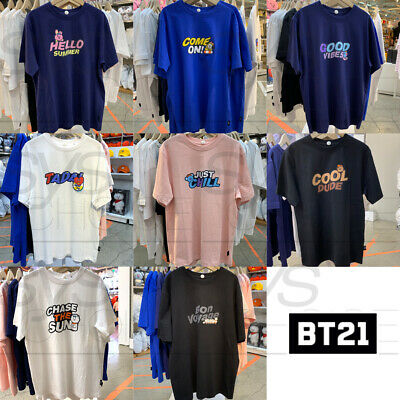 BTS BT21 Official Authentic Goods Lettering Short Sleeve T-Shirt by Line Friends