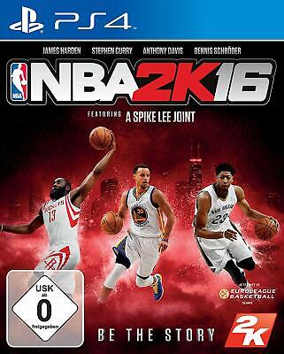 Ps4 Game NBA 2k16 Basketball 2016 D1 Version Incl. 4 Coverdesigns New