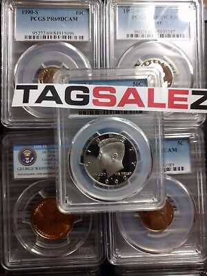 Estate Sale Us Graded Coins ▶Pcgs Ngc◀ 3 Slab Lot/silver Gold Old Whole Sale Lot