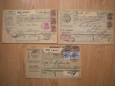 Germany Yr.1902. Three Parcel Coupon, Notes To Finland.
