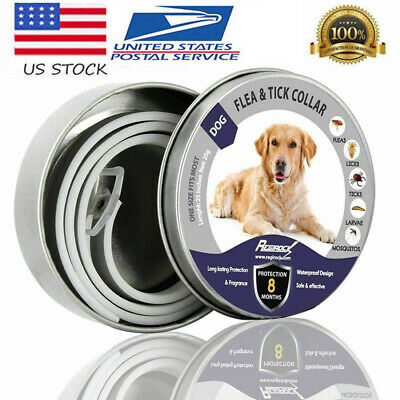 Dewel Flea and Tick Collar Adjustable for Large Dog Over 18lb 8 Month Protection