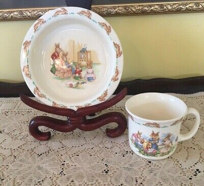 Vintage Royal Doulton Bunnykins Childs Cup And Bowl