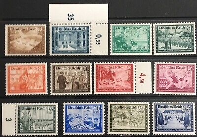 Germany Third Reich 1939 Postal Employees & Hitler's Culture Fund MLH Crease on4