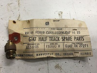 Halftrack G147- VALVE  POWER   CABURETOR   NOS