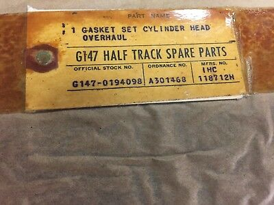 Halftrack G147 -0194098 Gasket set cylinder head NOS