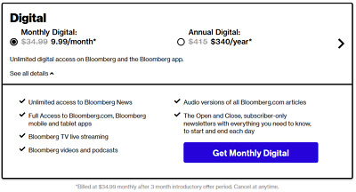 Bloomberg News 1 Year Digital Subscription Account Fast Delivery