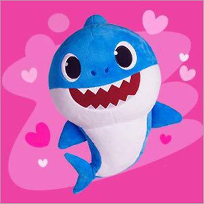blue Baby Shark Singing Plush Music Soft Dolls English Song Play