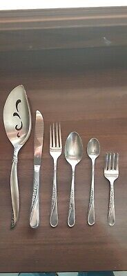 SILVER Antique 5 Piece Place Setting Sterling Silver Flatware BEAUTIFUL!