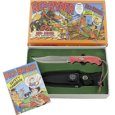 Red Ryder Anniversary Fixed Blade Hunting Knife Compass Sheath Safety Handbook