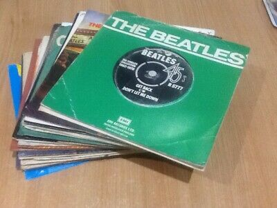 "Job Lot 7"" Vinyl Records - 25 Singles - The Beatles (Solo & Group) Releases"