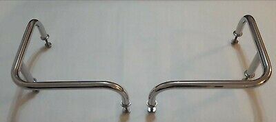Pair 300mm x 300mm stainless steel 316 boat stern rails 22mm