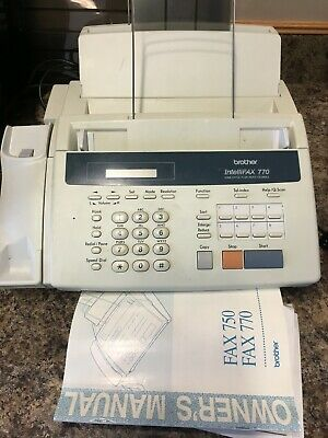 Brother Intellifax-770 Home or Office Plain Paper Fax Machine
