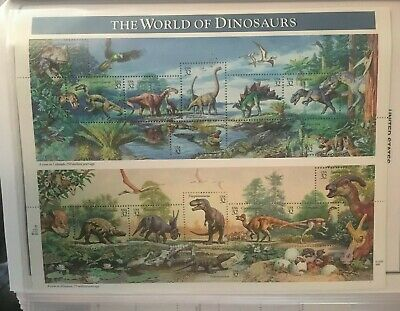 US #3136  World of Dinosaurs.  MNH 32 cent sheet of 15. Issued in 1997.