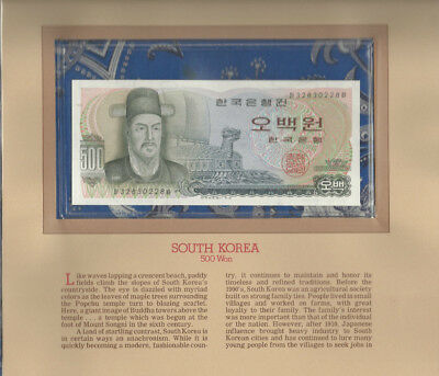 Most Treasured Banknotes Korea 500 Won UNC 1973 P 43