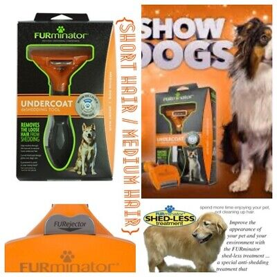 🐶FURminator Undercoat deShedding Tool - Medium Dog/Short Hair 🍊 Orange {New}🐶