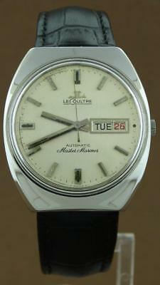 Jaeger LeCoultre Master Mariner Automatic Day Date Men's Watch RARE Vintage