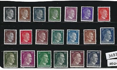 #3693     MNH stamp set / Adolph Hitler / Third Reich / Nazi Germany / 1941-1944