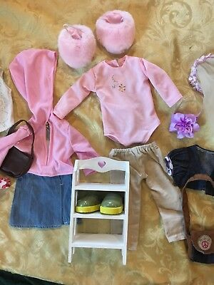"""Doll Clothes Fits 18""""  Dolls  and Stand up Shelf"""