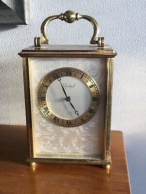 Quality Vintage Imhof Brass Carriage Clock - 8 Day Swiss - Working - 102 723