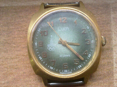 RARE gold plated Vintage Old USSR made Men's Wrist Watch LUCH