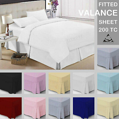 Luxury 100% Egyptian Cotton Deep Fitted Valance Sheets 200TC Single - Super King