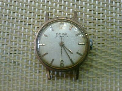 gold plated Vintage Old Swiss made women Wrist Watch  DOXA