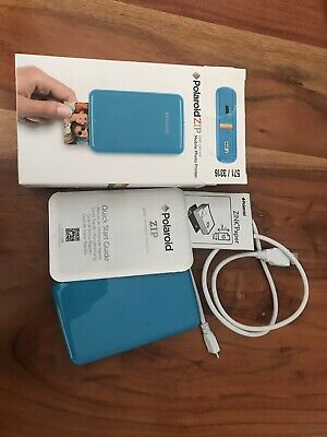 Polaroid Zip Digital Photo Zero Ink Printer - Blue