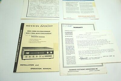 Vintage Sherwood Operating Manual S-8900A S-7900A Solid State Receiver + Extras