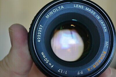 [Exc}Minolta MC ROKKOR PF 50mm f1.7 MF Lens for MD Mount made in JAPAN