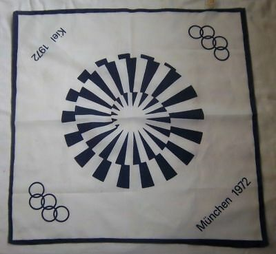 Orig.scarf Olympic Games MÜnchen 1972 52 X 52 Cm // Rarity Low Price Official Logo