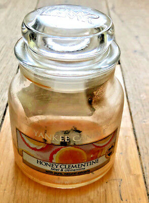 yankee candle fruit honey clementine 104g jar for display or refill collectors