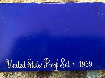 1969 S US Mint 5-Coin Proof Set - 40% Silver Kennedy