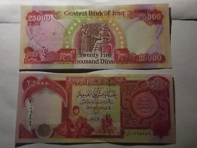 25,000 IRAQI DINAR CURRENCY CRISP UNCIRCULATED CONDITION  qty 1 x 25,000 IQD