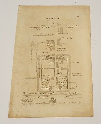 Map of Deventio/ Litle Chester 18th century