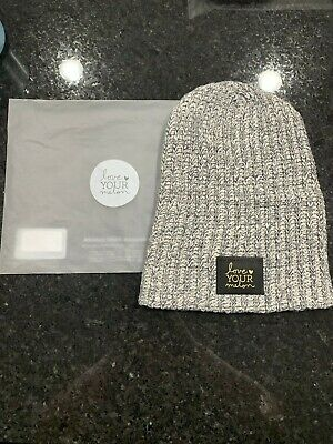 2ef3c2b95f9e1 Love Your Melon Charcoal Speckled Gold Foil Beanie New