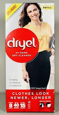 DRYEL At Home Dry Cleaner REFILL KIT 10 Cloths (Loads), Booster Spray 15 Minutes