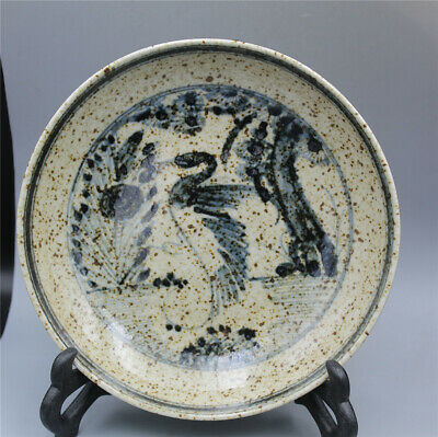 Rare Chinese Blue and white porcelain hand-painted Songhe Yannian plate w Xuande