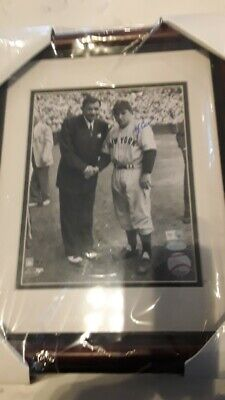 Framed Signed Yogi Berra Yankees  With Babe Ruth 8 X 10 Photo Steiner Sports