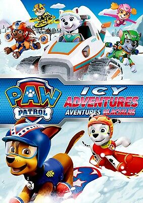 NEW DVD - PAW PATROL - ICEY ADVENTURES -  5 EPISODES - 71 minutes - ENG & FREN