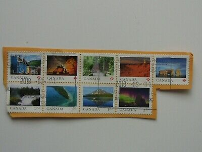 Used From Far And Wide dated 2018 Souvenir Sheet Set Of Stamps On Paper